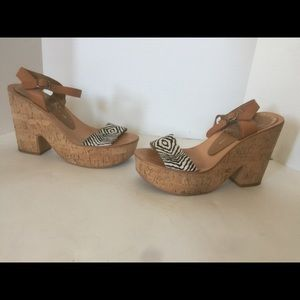 Dolce Vita Size 9.5 Cork Wedge Sandals